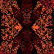 Black and red abstract design illustration - Stock vektor
