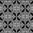 Abstract white symmetrical square pattern -  