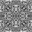 Square curled black pattern on white - Stock vektor