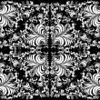 White symmetric decorated background - Stok Vektr