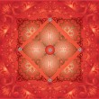 Bright red curled symmetrical background - Stock vektor