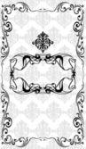 Marco negro sobre fondo gris — Vector de stock