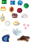 Set of isolated gems — Stock Vector