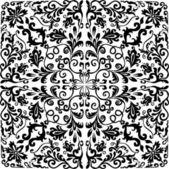 Square simple design black color — Stock Vector