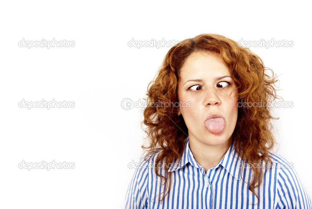 Young woman with bizarre face — Stock Photo #6477318