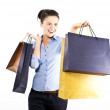 Woman on shoping — Stock Photo