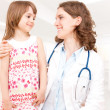 Stock Photo: Doctor and patient - child