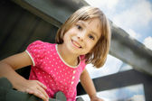Little girl having fun — Stockfoto