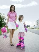 Amo rollerblades! — Foto Stock