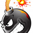 Vector de stock : Cartoon evil bomb