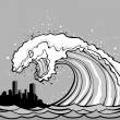 Tsunami monster — Image vectorielle