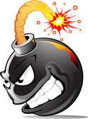 Bomba malos dibujos animados — Vector de stock
