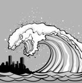 Monstre de tsunami — Vecteur