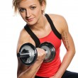 Woman doing fitness exercise — Stock Photo #6302349