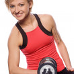 Woman doing exercise — Stock Photo #6302396