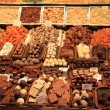 Chocolates and pralines on a market — 图库照片