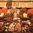 Chocolates and pralines on a market - Foto Stock
