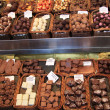 Chocolates and pralines on a market — ストック写真