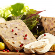 Stock Photo: Traditional Spanish liver pate with mushrooms