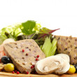 Traditional Spanish liver pate with mushrooms — Stock Photo