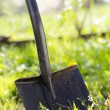 Stock Photo: Close up of garden shovel