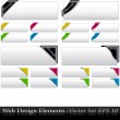 The Vector Colored  Corner Ribbon Set — Stock Vector #5436770