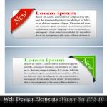 The Vector Colored Corner Ribbon Set — Stock Vector #5439583