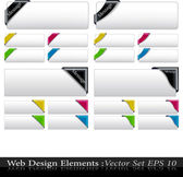 The Vector Colored Corner Ribbon Set — Stock Vector
