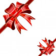 Red bow on white background — Vector de stock #5446173