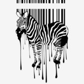 The abstract vector zebra silhouette — Stock Vector