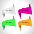 Vector color origami labels set — Vetorial Stock #6634339