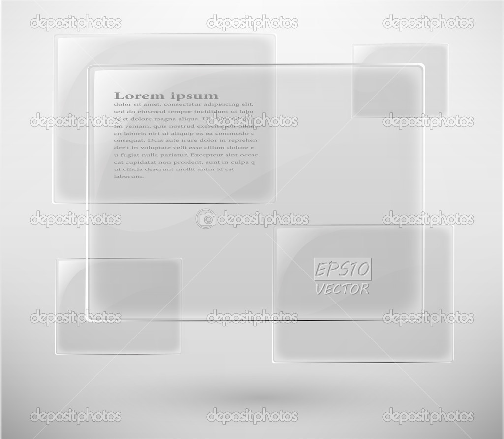 Abstract glass vector plane on white eps 10  Stock Vector #6653730