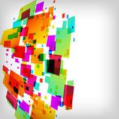Den abstrakt fyrkantiga färgstarka bakgrunden — Stockvektor