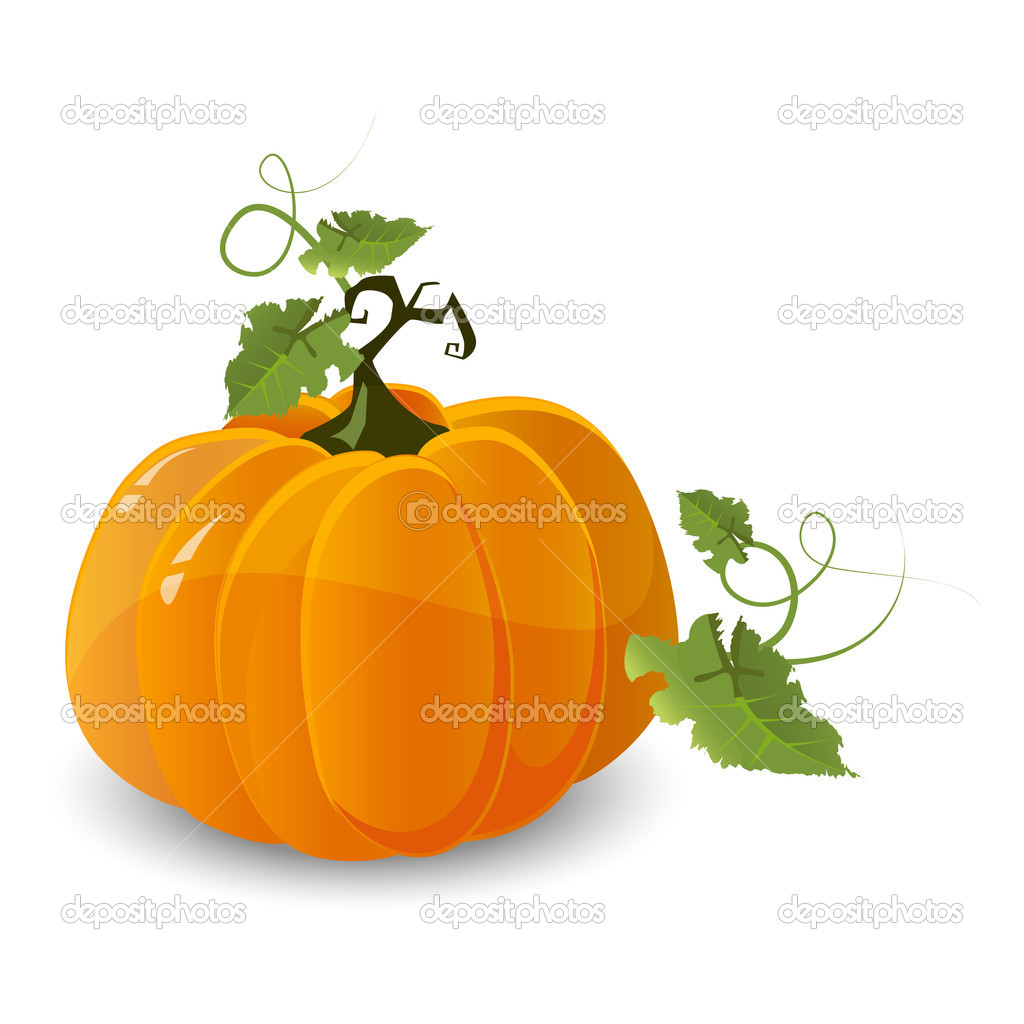 Vector halloween pumpkin isolated on white background  Stock Vector #6743888