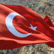 Turkey flag and rocks - Stock Photo