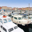Boats in Rovinj marina, Istria, Croatia — Stock Photo