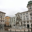 Stock Photo: Town square PiazzUnitin Trieste, Italia