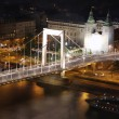 Elizabeth bridge, Budapest, Hungary from Citadel — Stock Photo