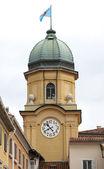 La città barocca torre dell'orologio a rijeka, croazia — Foto Stock