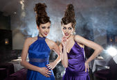 Glamour twins — Stock Photo