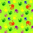 Color hands palms background - Stock Vector