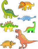 Dinosaur collection — Stock Vector