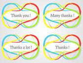 Аннотация спасибо наклейки — Cтоковый вектор
