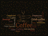 Coffee sorts background — Stock Vector