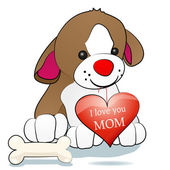 Dog and I love you mom — Stock Vector