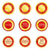 Golden red labels — Stock Vector