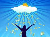 Unlimited source of money — Stock Vector