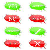 Confirm and deny set — Stock Vector