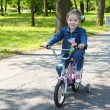 Child riding bicycle in park - Photo