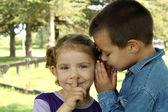 Children little secret — Stock Photo